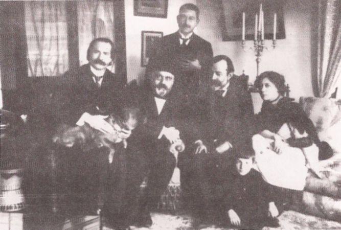 Sami Pasazade Sezai, Riza Tevfik, Abdulhak Hâmid, Lusyen Hanim, Celal Nuri İleri