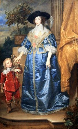 Anthony Van Dyck, Queen Henrietta Maria With Sir Jeffrey Hudson, 1633