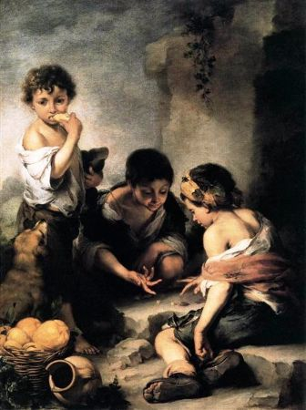 Bartolomé Esteban Murillo, Boys Playing Dice, 1670-1675