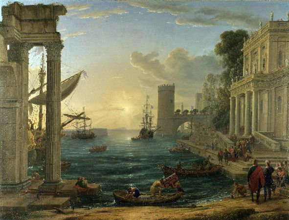 Claude Lorrain, The Embarkation of the Queen of Sheba, 1648