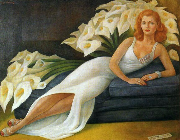 Diego Rivera, Portrait of Natasha Gelman, 1943