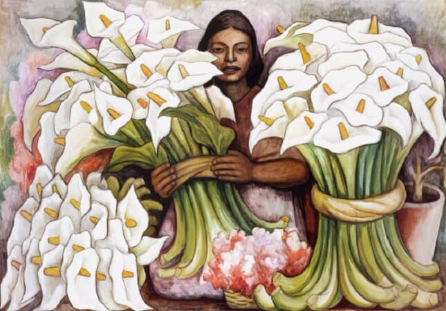 Diego Rivera, Vendedora De Alcatraces, 1938