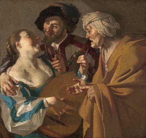 Dirck van Baburen, The Procuress