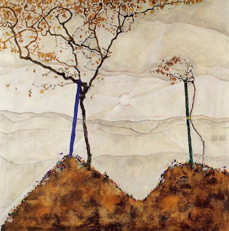 Egon Schiele, Autumn Sun and Trees, 1912