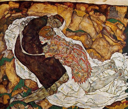 Egon Schiele, Death and The Maiden, 1915