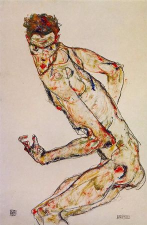Egon Schiele, Fighter, 1913