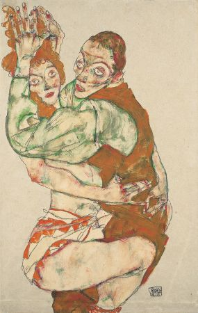 Egon Schiele, Liebesakt, 1915