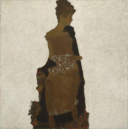 Egon Schiele, Portrait of Gerti Schiele, 1909
