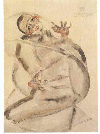 Egon Schiele, Self Portrait As Prisoner, 1912