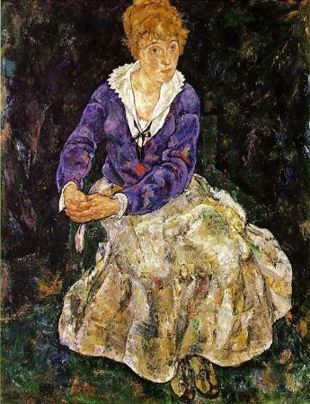 Egon Schiele, The Artist's Wife Seated
