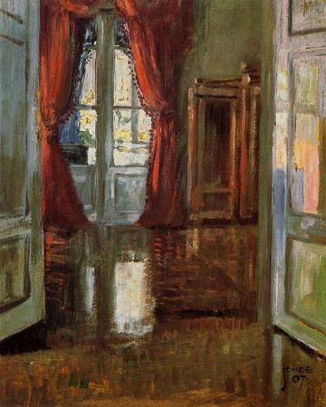Egon Schiele, View Into The Apartment of Leopold and Marie Czihaczek, 1907