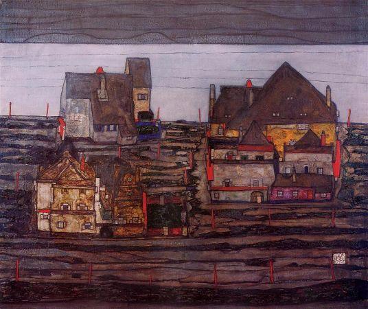 Egon Schiele, Vorstadt, 1914