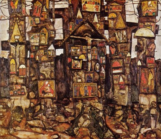 Egon Schiele, Woodland Prayer, 1915