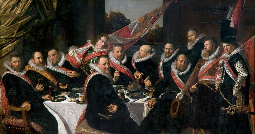 Frans Hals, The Banquet of the Officers of the St George Militia Company, 1616