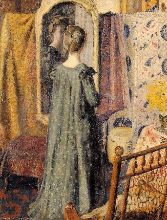 Georges Lemmen, Woman Standing In Front of The Mirror, 1902