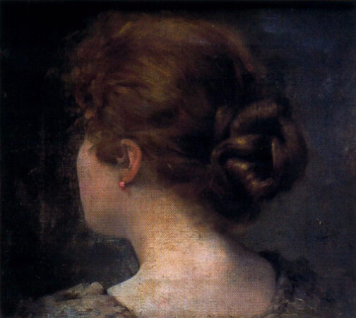Ignacio Diaz Olano, Cabeza de mujer vista de espaldas
