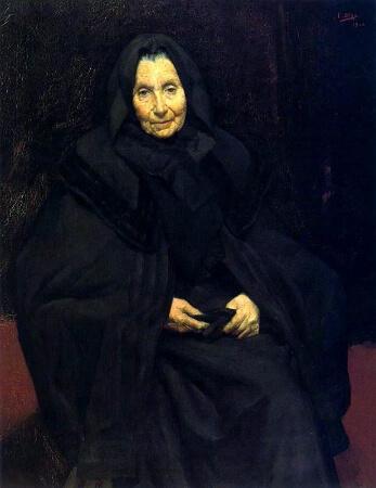 Ignacio Diaz Olano, Madre del Pintor