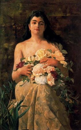 Ignacio Diaz Olano, Mujer Con Flores
