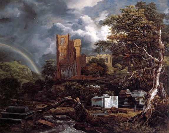 Jacob van Ruisdael, The Jewish Cemetery, 1655-1660