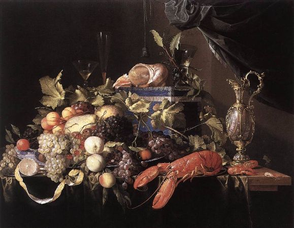 Jan Davidszoon de Heem, Still Life with Fruit and Lobster, 1648-49