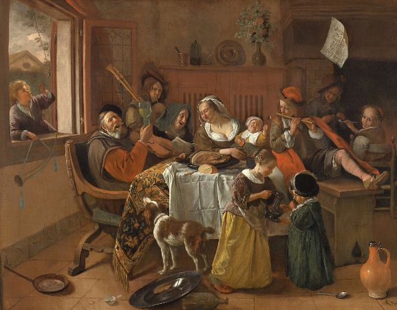 Jan Steen, The Merry Family, 1668