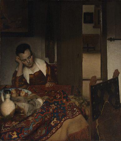 Johannes Vermeer, A Maid Asleep, 1656-57