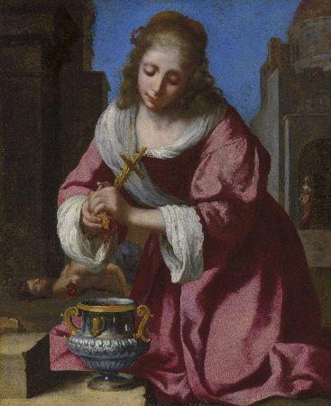 Johannes Vermeer, Saint Praxedis, 1655