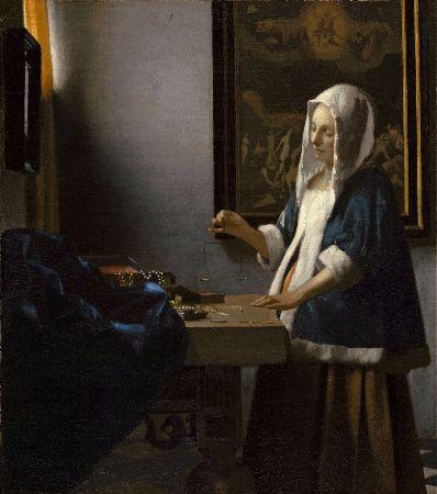 Johannes Vermeer, Woman Holding A Balance, 1662-63