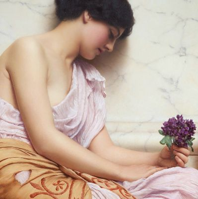 John William Godward, Violets, Sweets Violets, 1906