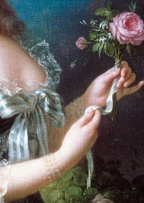 Louise Elisabeth Vigee Le Brun, Marie Antoinette with the Rose, 1783