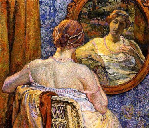 Théo van Rysselberghe, Femme au Miroir, 1907