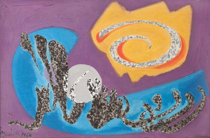 Abidin Elderoglu, Kaligrafik Soyut, 1968