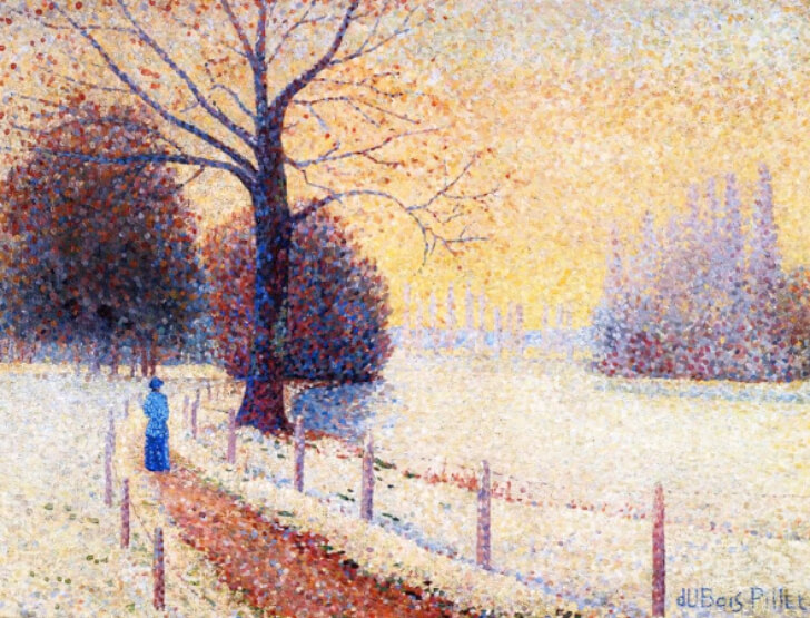 Albert Dubois-Pillet, Le Puy in the Snow, 1889