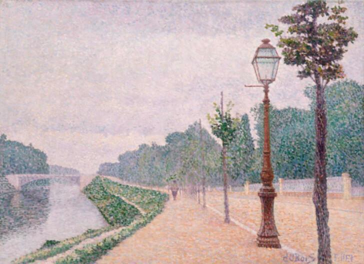 Albert Dubois-Pillet, Les Bords de Seine a Neuilly, 1886