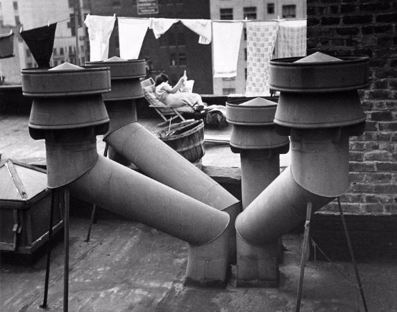 Andre Kertesz, Chimneys, New York, 1943