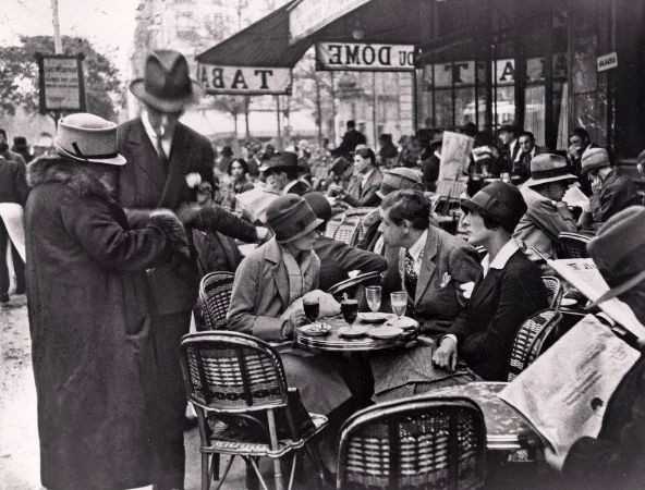 Andre Kertesz, My Friends at Cafe du Dome, Paris, 1928