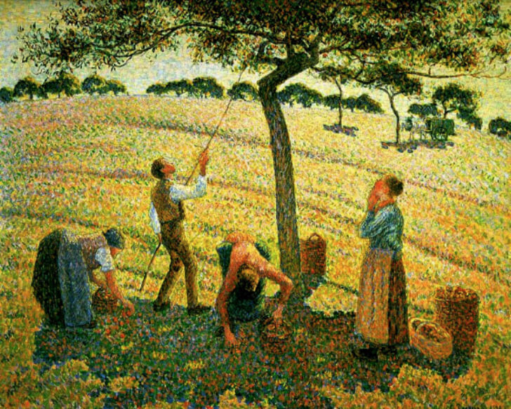 Camille Pissarro, Apple Picking at Eragny-sur-Epte, 1888