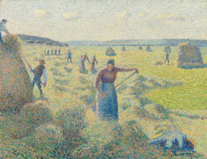 Camille Pissarro, La Récolte Des Foins, Éragny, 1887