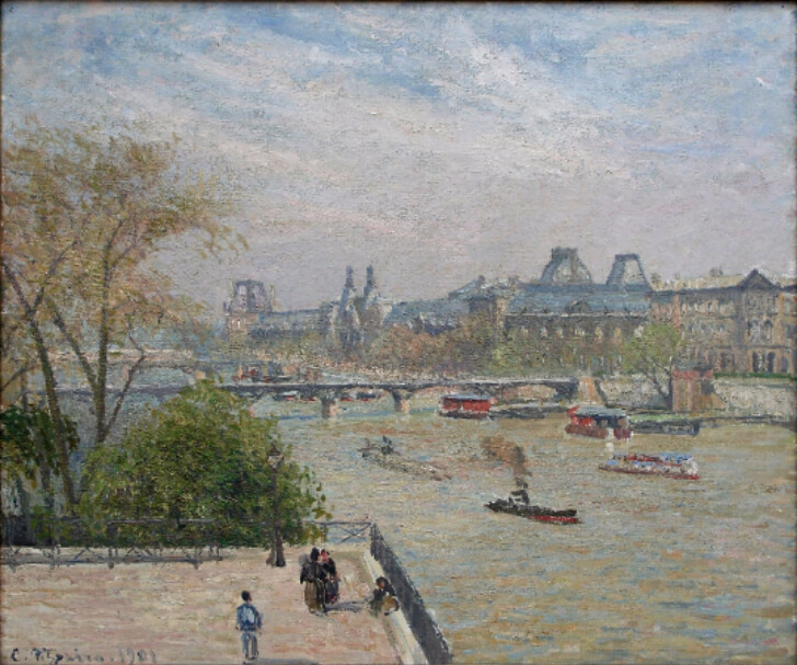 Camille Pissarro, The Louvre, Spring, 1901