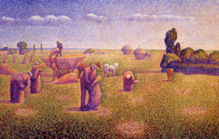 Charles Angrand, The Harvesters, 1892