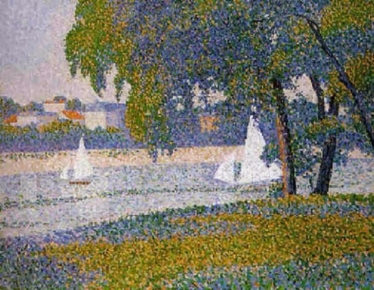 Charles Angrand, The Seine At Courbevoie, 1888