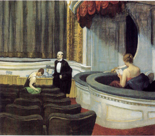 Edward Hopper, Two On The Aisle