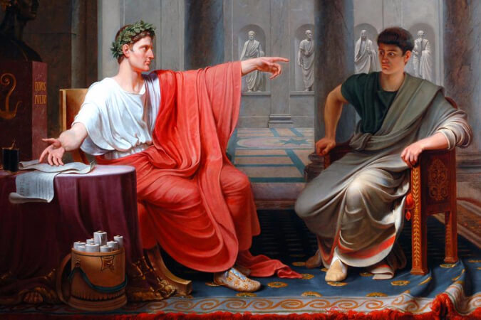 Etienne-Jean Declave, Roman Emperor Caesar Augustus, 1841