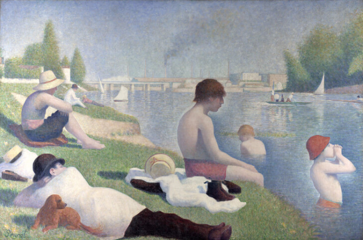 Georges Seurat, Bathers at Asnieres, 1883