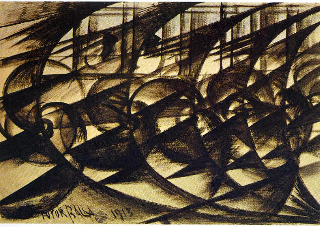 Giacomo Balla, Speeding Car, 1913