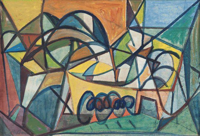 Hakki Anli, Soyut Kompozisyon, 1950