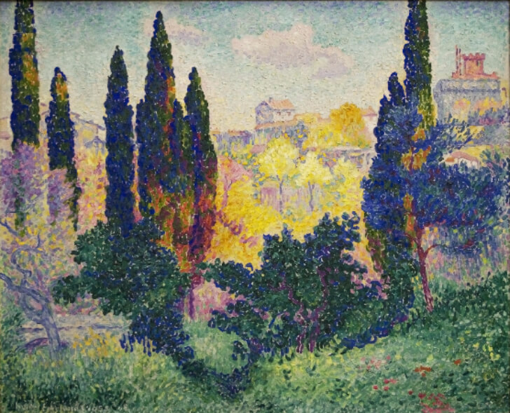 Henri-Edmond Cross, The Cypresses, 1908