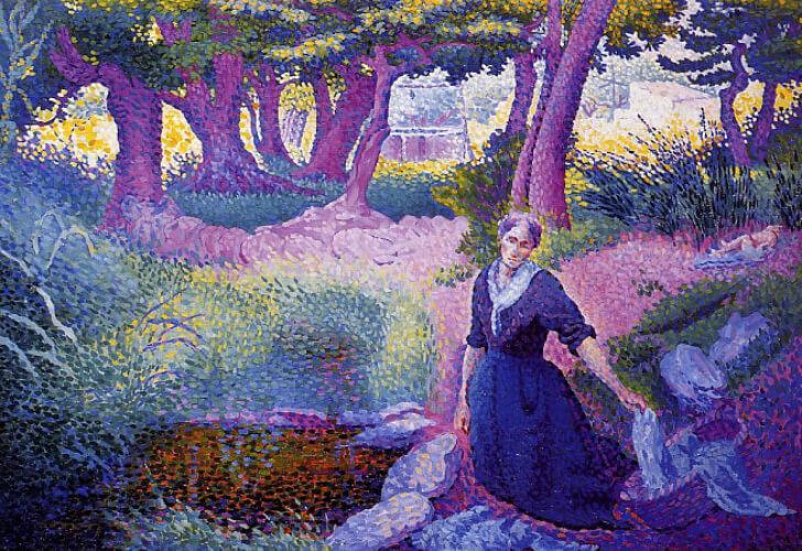 Henri-Edmond Cross, Washerwoman, 1895-96