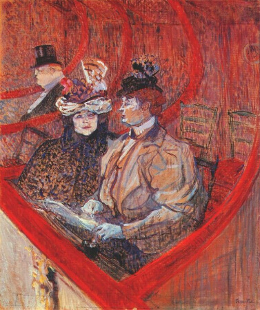 Henri de Toulouse-Lautrec, A Box At The Theatre
