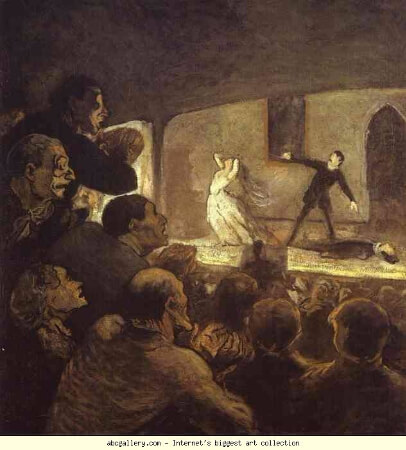Honore Daumier, In the Theater